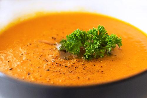 Имбирный суп с морковью