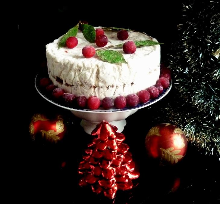 Замороженный рождественский торт без выпечки