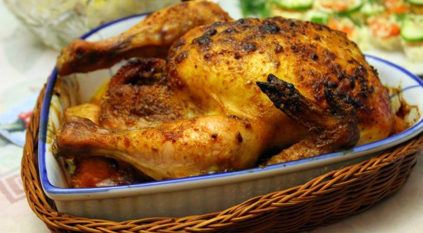 Запеченная острая кунжутная курица