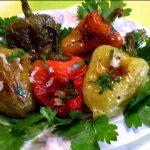 Жареный болгарский перец с чесноком