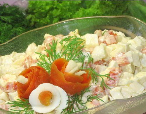Салат с плавленным сырком