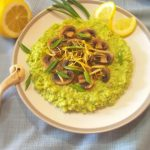 Пшенная каша с зеленым горошком и грибами