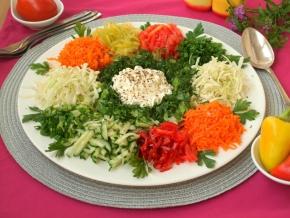 Овощной салат для поста без масла