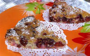 Нежный пирог с вишней