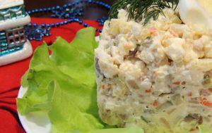 Салат с копченой сельдью