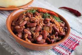 Острый салат из красной фасоли (по-грузински)