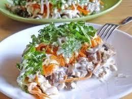 Салат с грибами «Праздничный»
