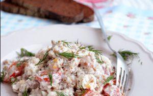 Гречневый салат с тунцом