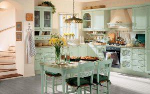 Кухня в стиле прованс: выбираем светильники