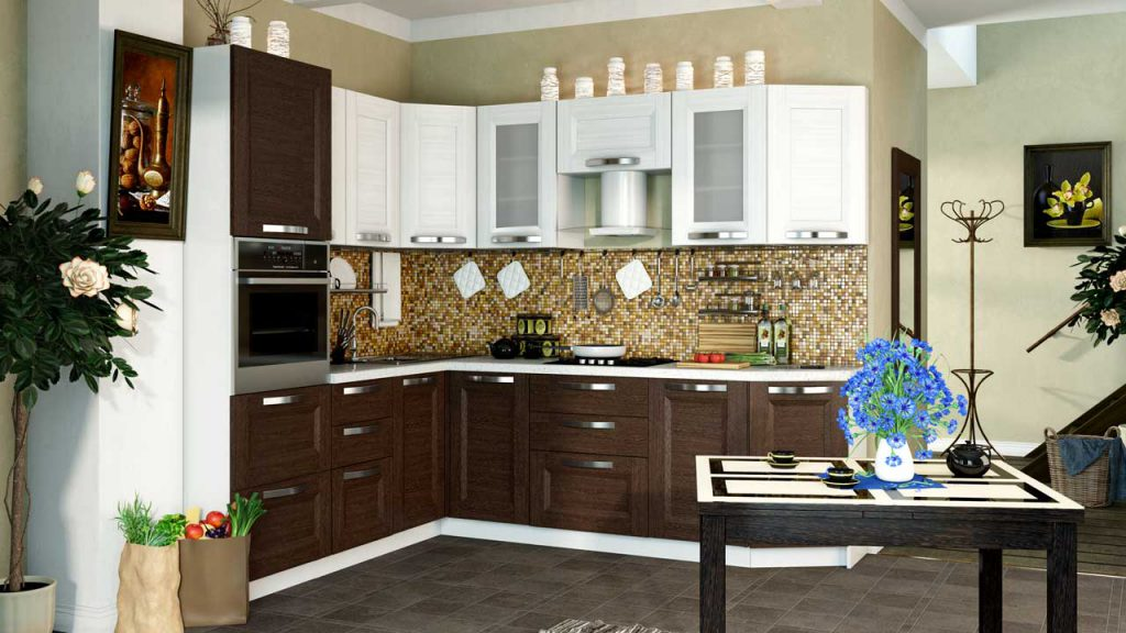 Преимущества и виды угловых гарнитуров для кухонь
