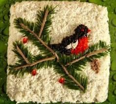 Салат «Новогодняя открытка»