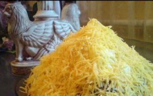 Салат Египетская пирамида с печенью трески