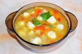 Сырный суп с клёцками