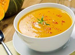 Тыквенный крем-суп со сливками и сыром
