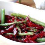 Салат с зеленой фасолью и свеклой