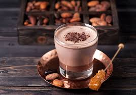 Какао с орехами