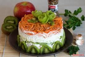 Салат из курицы с морковью и киви