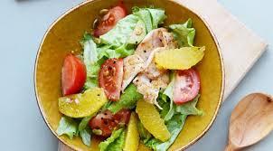 Салат из курицы с помидорами и кремовой заправкой