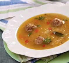 Чечевичный суп с тыквой и фрикадельками