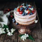 Клубничный диетический тортик
