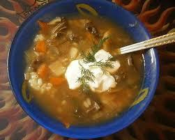 Густой суп «Прованс» с картофелем, перловкой и помидорами