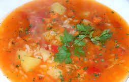 Рисовый суп с помидорами