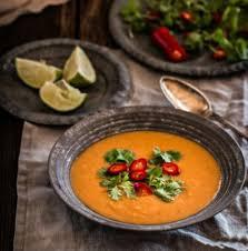Суп-пюре из запечённых баклажанов