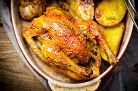 Цыплята, запеченные с картофелем