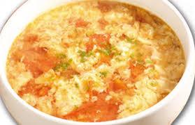 Суп с помидорами и яйцом