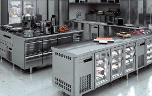 Тепловое оборудование на кухне ресторана