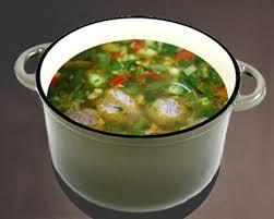 Суп из зелёной стручковой фасоли с галушками