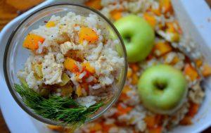 Рисовое рагу с яблоками