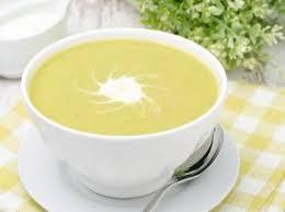 Суп рисовый с цветной капустой и кабачком