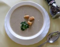 Грибной суп-пюре с тахиной