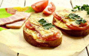 Простые пицца — бутерброды