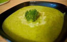 Суп из брокколи со шпинатом