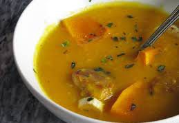 Тыквенный суп с пастернаком и фрикадельками