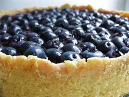 Перевернутый пирог с черникой
