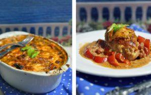 Куриное филе с перцами, запеченное в соусе и сыре
