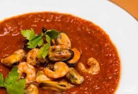 Итальянский суп с креветками