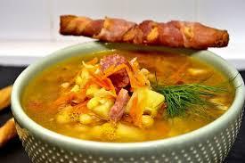 Суп с копчеными ребрышками по бабушкиному рецепту