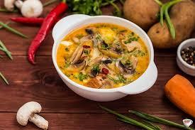 Суп с грибами и яйцами