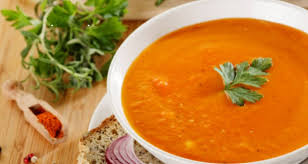 Постный суп-пюре из чечевицы