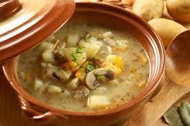 Суп из шампиньонов с фасолью
