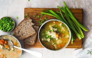 Суп из цветной капусты с диким рисом