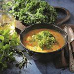 Крем-суп из белой фасоли с кейлом