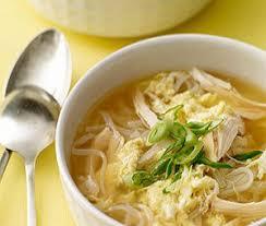 Суп из индейки с яичной лапшой