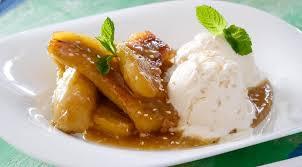 Мороженое с карамельными бананами