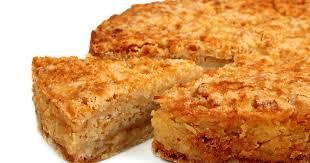 Насыпной яблочный пирог со сливочным маслом