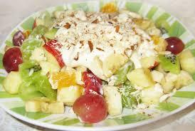 Фруктовый салат с индейкой